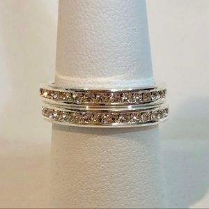 Charter Club Ring Crystal Eternity Band Set Size 8